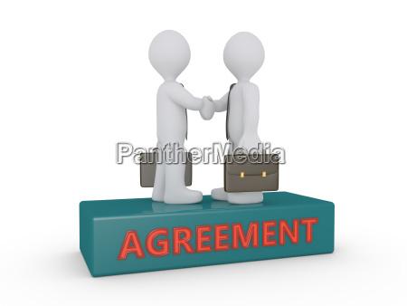 businessmen agreement on podium