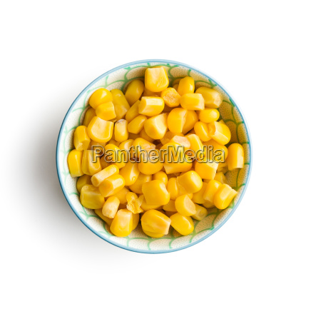 corn seeds in bowl