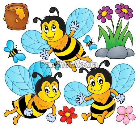 happy spring bees theme set 1