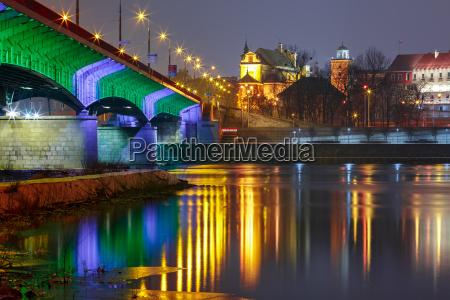 old town and river vistula at