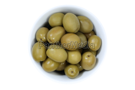 olivegreen olive isolated from above free