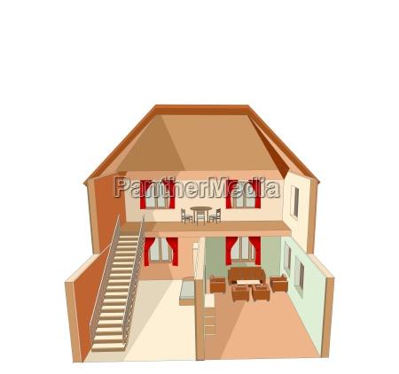 dolls house isolated