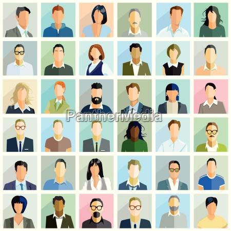 group people portraitillustration
