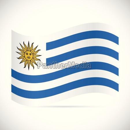 uruguay flag illustration