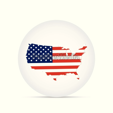 usa map button illustration