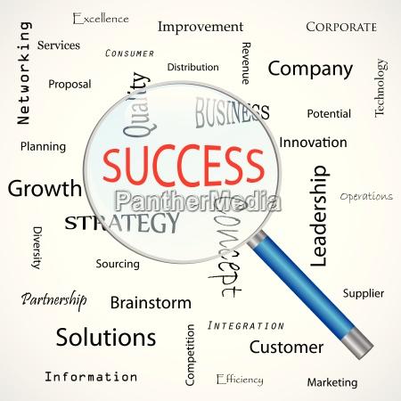 focus on success illustration