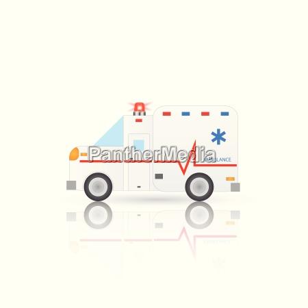 emergency ambulance illustration