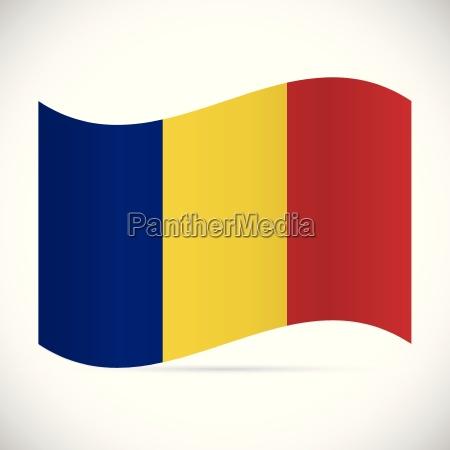 romania flag illustration
