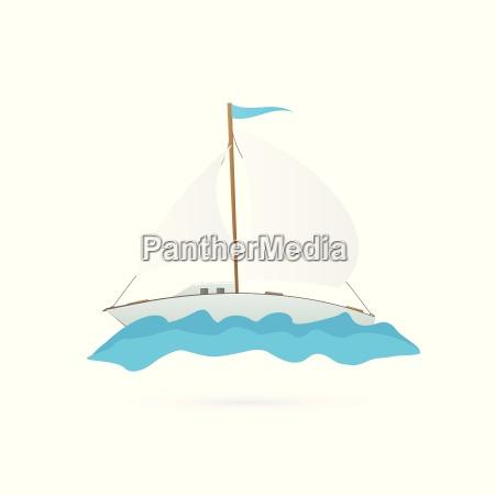 sailboat illustration