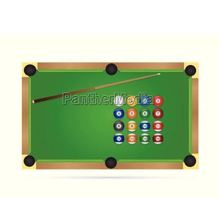 pool table illustration