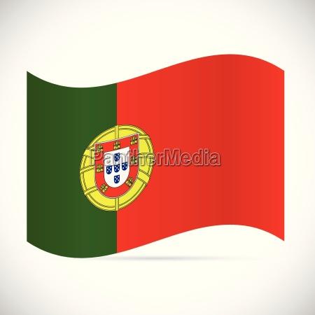 portugal flag illustration
