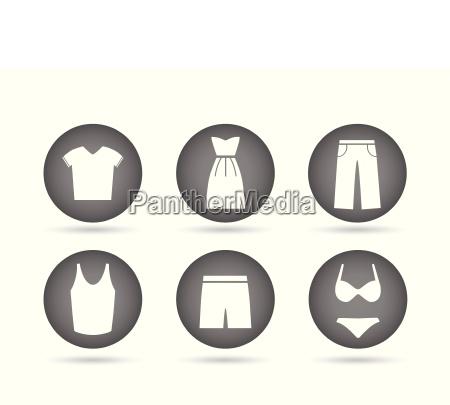 clothing icons grey