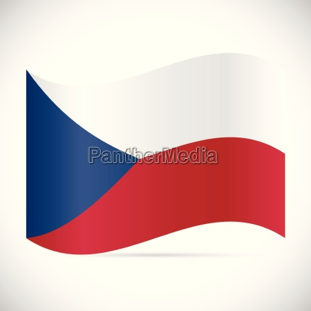 czech republic flag illustration