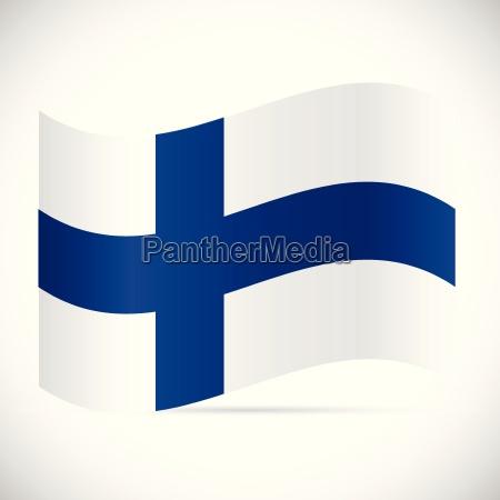 finland flag illustration