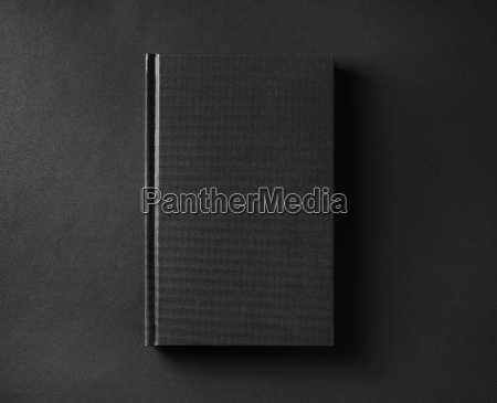 blank black book