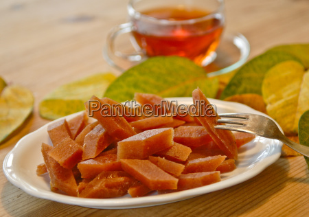 food aliment tea pastry plate rhombuses