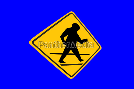 sign signal blue isolated colour asia