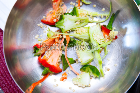 vegetables in bowls