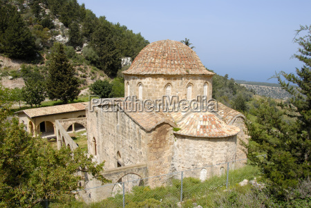 ancient byzantine monastery antifonitis in the
