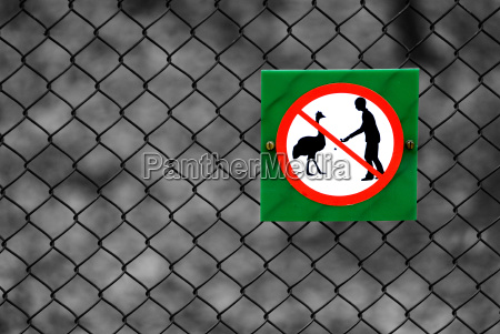 sign signal animals vienna austrians zoo