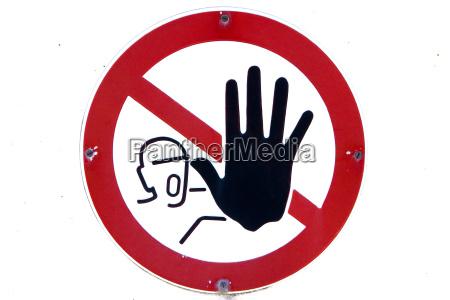 sign signal danger risk signposts delimitation