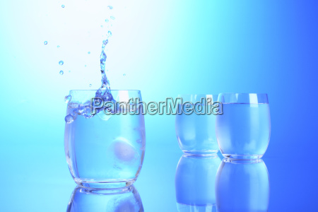 blue food aliment drinks glass chalice