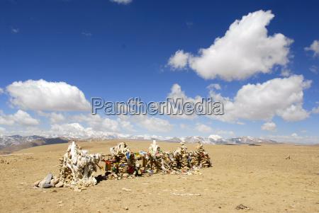 mountains stone desert wasteland asia summit