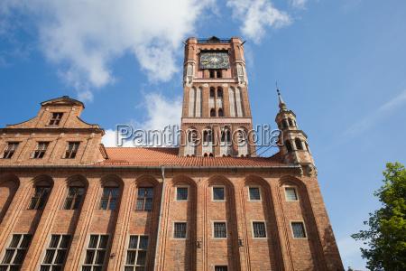 old city town hall in torun