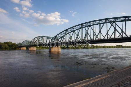 pilsudskiego bridge on vistula river in