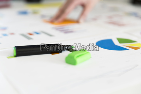 businesswoman working with graphs and charts