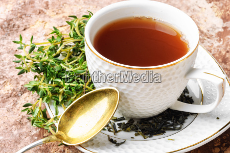 herbal tea with thyme