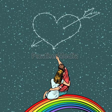 heart pierced by an arrow over