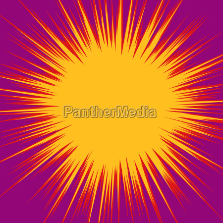 orange red bang pop art