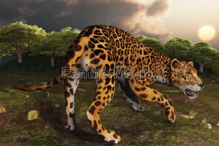 computer illustration of a jaguar