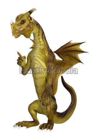 3d illustration fantasy dragon on white