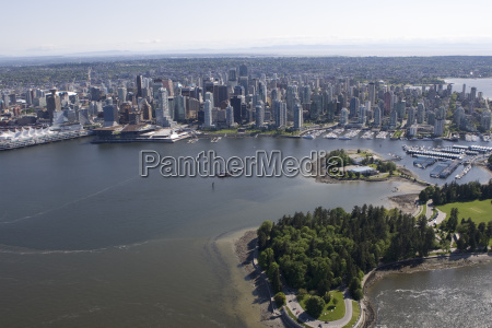 stanley park coral harbor and vancouver