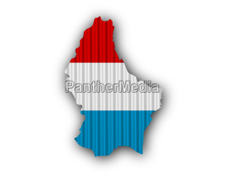 map and flag of luxembourg on