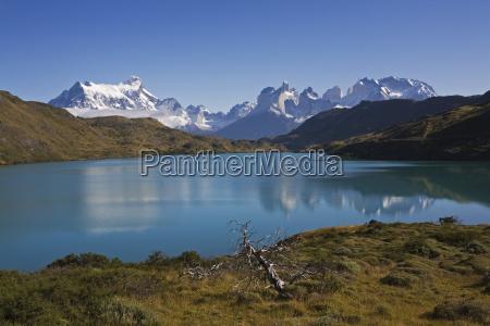 lake scenery in the torres del