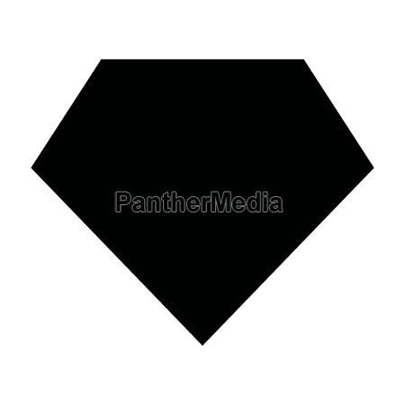superhero template black color icon