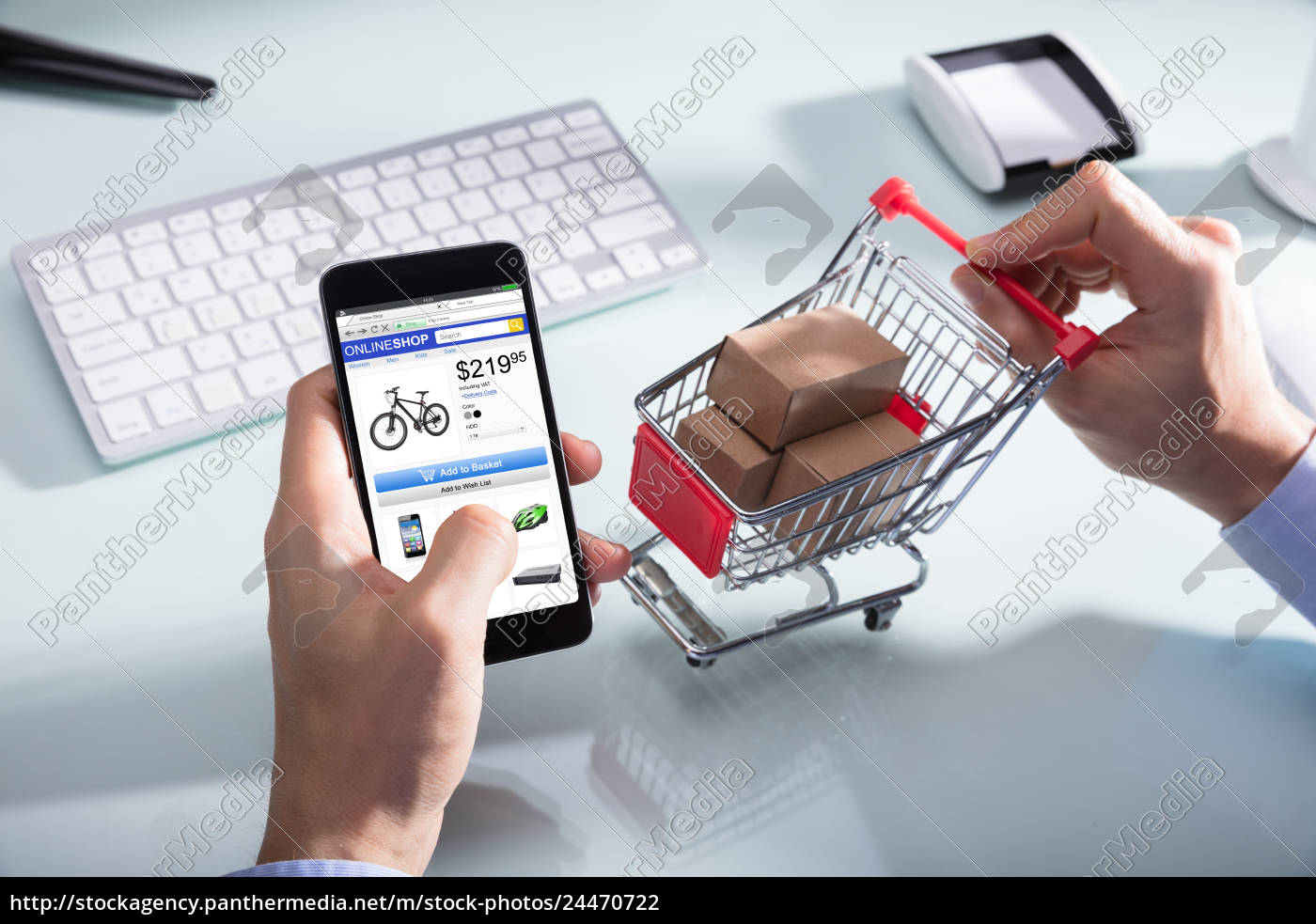 7da10348250 Person Shopping Online On Mobile Phone - Stock image -  24470722 ...