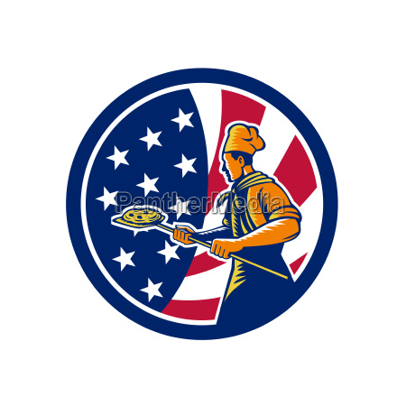 american pizza baker usa flag icon