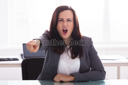 portrait of a angry businesswoman