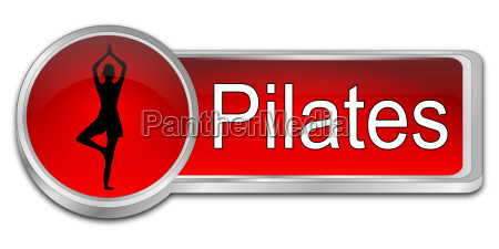 red pilates button 3d illustration