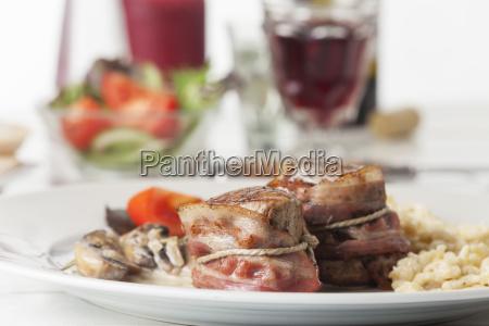 pork fillet with spaetzle