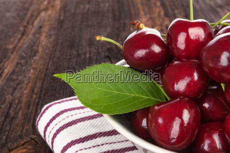 fresh ripe red cherries