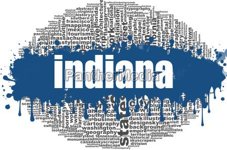 indiana word cloud design