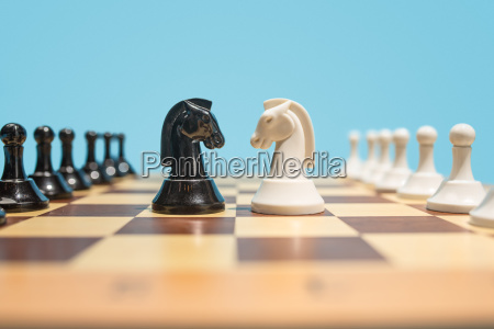 the chess board and game concept