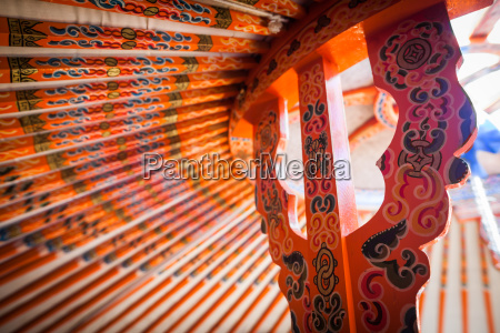 yurt ceiling detail
