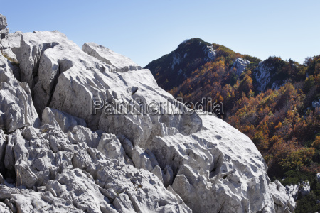 karst rock lime rock risnjak national