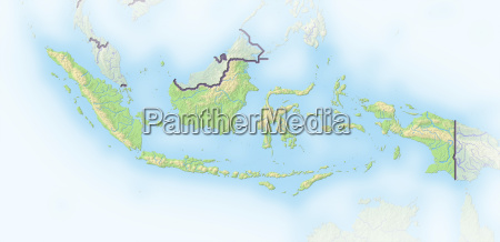 asia indonesia asiatic border card outline